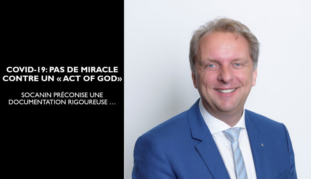 COVID-19: PAS DE MIRACLE CONTRE UN 'ACT OF GOD'